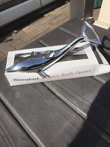 Slilverplated Dolphin Bottle Opener