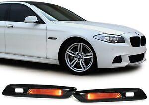 Klarglas LED Seitenblinker schwarz smoke für BMW 5er F10 F11 10-13