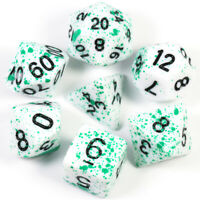 Bloody Green Dice Cool 7pcs for Dungeons and Dragons Game