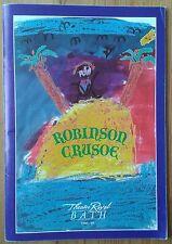Robinson Crusoe programme Bath Theatre Royal 1988/9 Leslie Crowther Glyn Owen