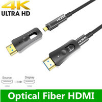 HDMI Fiber Optical Cable 4k@60Hz Ultra HD HDR 3D Cable with Micro HDMI Pull Type