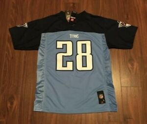 Chris Johnson Tennessee Titans NFL Team Apparel Game Jersey Youth Medium NWT