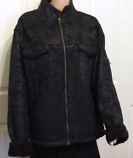 MEN'S  XXL  BLACK  COAT ZIPPER FRONT BRAND NEW