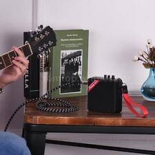 New Mini Guitar Amplifier Amp Speaker Muslady Ms-5 Portable Black Color Q5G6