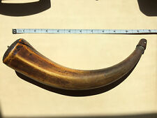 Genuine Early American Antique Powder Horn - Carved and Signed - Dated 1769