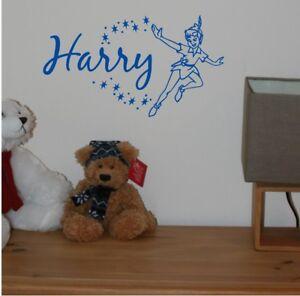 Peter Pan Personalised Disney Name Sticker Room/Wall/Nursery/Vinyl/Decal