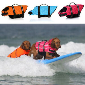 Pet Dog's Life Jacket Safety Vest Life Preservers Swimming Swimwear New