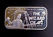 """MGM 50th Anniversary Frank Morgan as the """"Wizard of Oz"""" Pure Silver Tribute bar"""