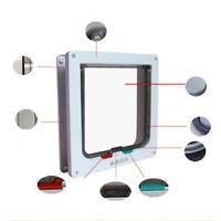 4 Way S/M/L Size Pet Cat Puppy Dog Magnetic Lock Lockable Safe Flap Door Samger