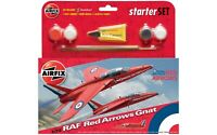 AIRFIX® 1:72 RAF ROYAL AIR FORCE RED ARROWS GNAT STARTER SET MODEL KIT A55105
