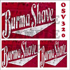 WEATHERED WATERSLIDE BUILDING SIGN DECALS BURMA SHAVE O SCALE OSV320