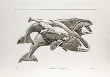 J. D. Mayhew Limited Edition Engraving - Bowheads and Belugas