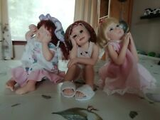 Limited Edition Laura Lee Wambach Slumber Party Set of 3 Resin Dolls