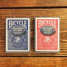 Blue Deck Only BRAND NEW CARDS Cupid Back Bicycle Vintage Design