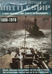 The Complete History Of The Battleship 1800-1916 - DVD New