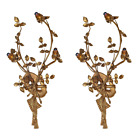 Pair Gilt Bronze Louis XV Style Sconces with Musical Motif