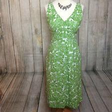 Gorgeous Green Floral BODEN Cotton Summer Dress Size 10R