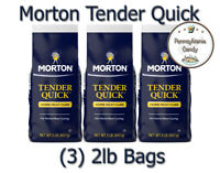 Morton (3) 2 lb Bags Tender Quick Home Meat Cure Base Salt TenderQuick 6lb Total