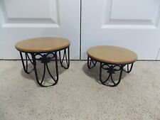 * Longaberger * Wrought Iron (Plate Stands + Wood Shelves) Foundry Collection *