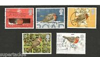 1995 Great Britain #1634-38 Θ used stamps Christmas, Birds