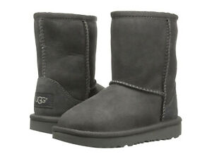 Toddler UGG Classic II Boot 1017703T Grey Suede 100% Authentic Brand New