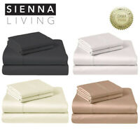 Sienna Living 1000TC Thread Count America Pima Cotton Sheet Set Queen King Sizes