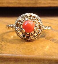 Vintage 14K Coral Twisted Ring
