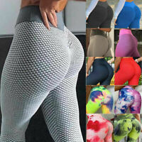 Women Push Up Anti-Cellulite Yoga Pants Ruched Crossover Tik Tok Sports Leggings