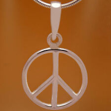 Cool Peace Symbol Round Pendant Stunning Solid 925 Sterling Silver Charming