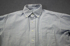 Vineyard Vines Whale Logo Mens Murray Blue & White Striped Ls Button Shirt M