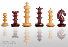 "The Matera Luxury Chess Set - Pieces Only - 4.4"" King - Blood Rosewood"