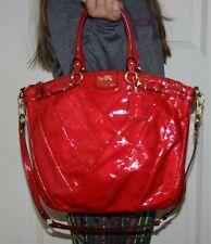 Coach Madison Lindsey Diagnol Handbag: Punch Red