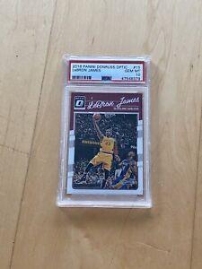 2016-17 Donruss Optic LeBron James w/ Kobe Bryant #15 PSA 10 GEM MINT