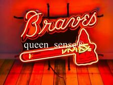 "New Atlanta Braves Neon Light Sign 20""x16"" With Hd Vivid Printing Technology"