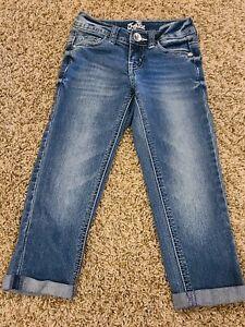 Justice Girls 7 Slim Capri Jeans Excellent Condition