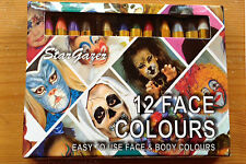 Face Paint Crayon 12 Small Sticks Halloween Animal Fancy Dress Costume Stargazer