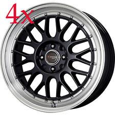 Drag Wheels DR-44 17x7.5 5x100 5x114.3 Black Rims For TC Lancer Celica Civic EX