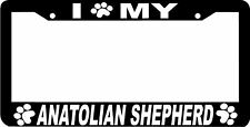 Anatolian Shepherd Dog paw print License Plate Frame