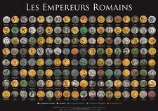 TRES BEAU poster Empereurs Romains version Francaise60 /42 CM QUALITE