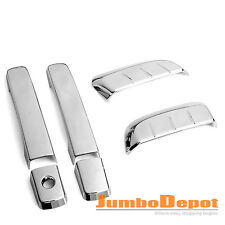 For 2005-2012 Nissan Pathfinder R51 Chrome Front + Rear Door Handle Cover Trims