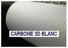 FILM VINYLE CARBONE 3D BLANC COVERING 20 x 10 cm