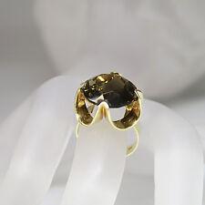 Ring mit einem Rauchquarz  in 585/14K Gelbgold