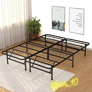 Platform Bed Frame Queen Metal Base Mattress Foundation Heavy Duty Steel