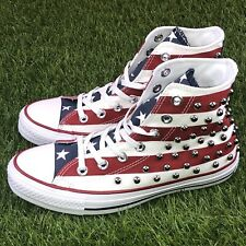 Converse CTAS Hi Top Size 6 / 8 Studded USA Flag Red White Blue Sneakers 160994C