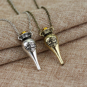 Necklace Magic Harry Potter Felix Felicis Potion Liquid Luck Vial Bottle Pendant