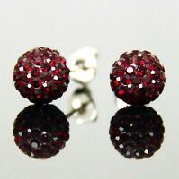 26 Colors 8mm Sparkle Round Crystal Disco Ball Clay CZ Beads Ear Stud Earrings