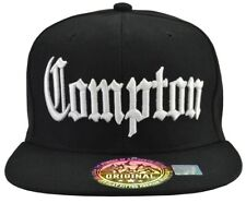 Compton Hat Black, White Embroidered