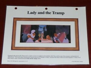 WALT DISNEY LADY AND THE TRAMP PRELUDE TO A KISS LAMINATED CEL PROMO BINDER PAGE