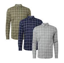 MCNEAL Tailored Fit Freizeithemd Karomuster Button Down Herren Hemd Größe S