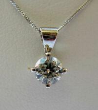 Collane e pendagli con diamanti naturale catena in oro bianco